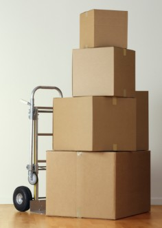 Set of stacked boxes
